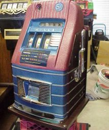 1940s Mills High Top Jewel Bell Antique Slot Machine
