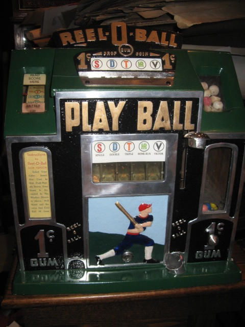 Gameroom Show 1930s Reel O Ball Play Baseball Slot Machine