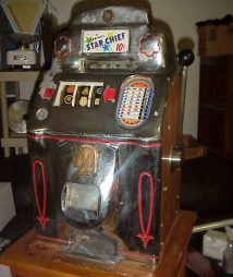 Jennings 10 cent Chrome Star Chief Antique Slot Machine