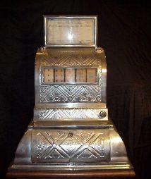 1894 5-Reel Poker Card Machine, Wells & Wingerter Co