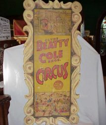 Beatty Cole Bros. Circus Side Show Sign