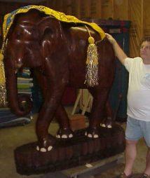 Elephant Hand-Carved Circus Memorabilia