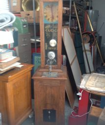 Exhibit Supply 1-Cent Original Grandfathers Clock Strength c1920
