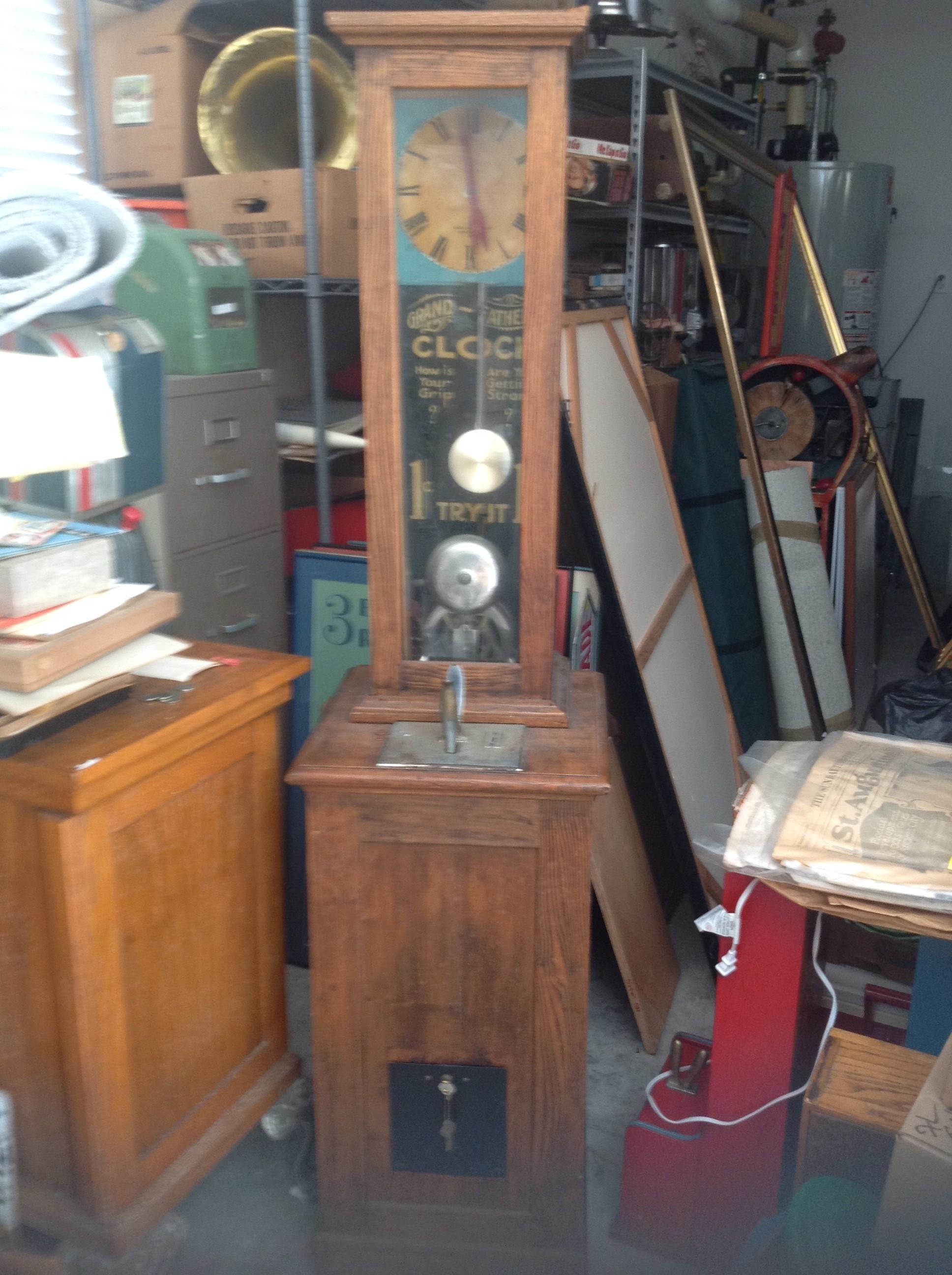 Exhibit Supply 1 Cent Original Grandfathers Clock Strength