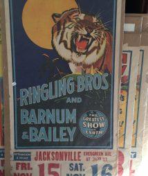 Ringling Bros Barnum & Bailey Circus Tiger Poster