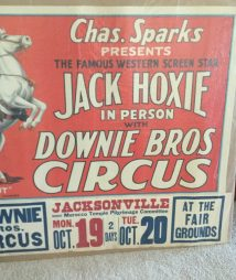 "Donnie Bros. Big 3 Ring Circus – Jack Hoxie And ""Scout"" Poster"