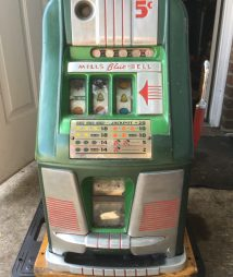 Mills 5-Cent Blue Bell Antique Slot Machine