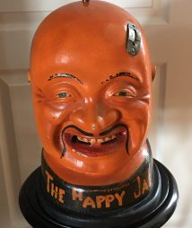 Happy Jap Gum Vending Machine, Cast-Iron Head c1902