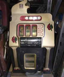 Mills Golden Falls 50 cent Antique Slot Machine