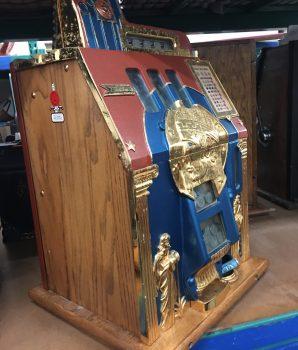 Mills Roman Head Slot Machine W/Side Vendor