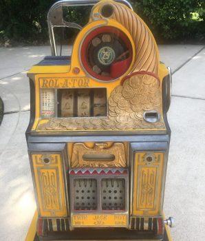 25 cent Watling ROL-A-TOR Slot Machine Rare