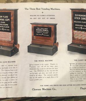 Clawson Vending Machine Co. Flyer c1911