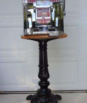 Time Period Slot Machine Cast Iron Stand