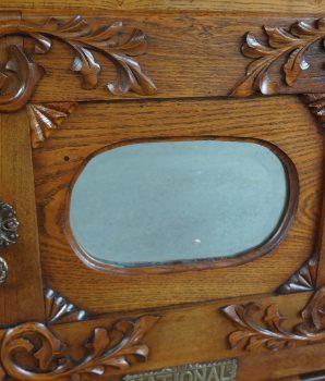 Antique Oak Lion Head Ice Box
