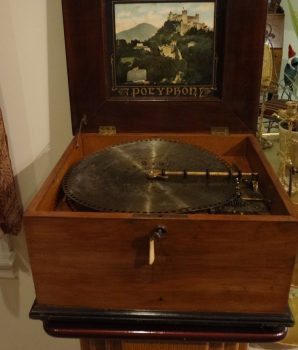 Polyphon Music Box 14″ Disc with 12 Bells
