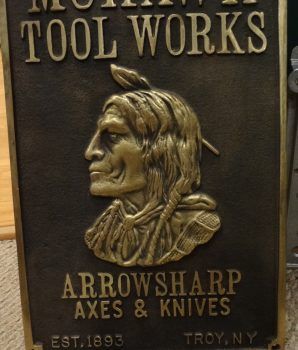 Mohawk Tool Works Arrowsharp Axes & Knives Plaque