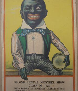 Rare Original 1920s Minstrel  Advertisement Poster