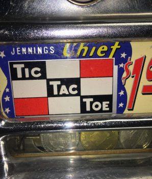 Dollar Jennings Tic Tac Toe Light up Antique Slot Machine