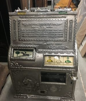 Cast Iron Gambling Token Payout Machine The Little Horse Les Petits Chevaux
