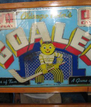 HERSEY PARK GOALEE HOCKEY PENNY ARCADE MACHINE