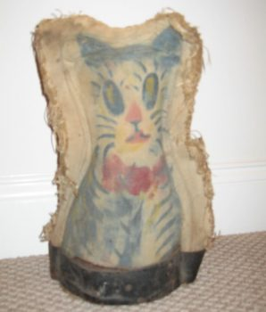 Coney Island 1920's Original Large Carnival Knockdown Cat