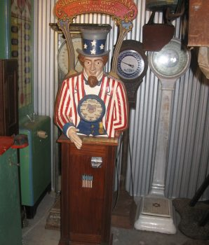 Uncle Sam Personality Tester Arcade Machine