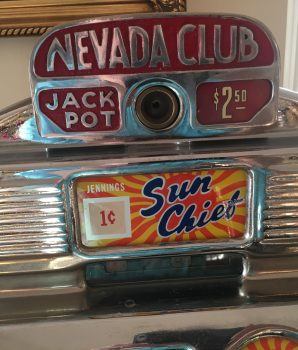 One Cent Jennings Chief Nevada Club Antique Slot Machine