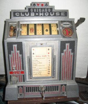 Daval Chicago Club House 5-Reel Trade Stimulator Slot Machine Art Deco 1932