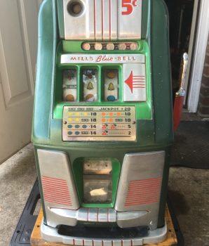 Mills 5-Cent Blue Bell Antique Slot Machine