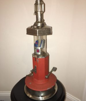 1 cent Gas Pump Shape Van Lite lighter Fluid Dispenser c1930's