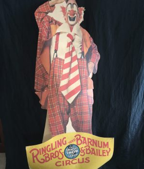 Ringling Bros & Barnum Bailey Circus Clown Lou Jacobs Stand Up Display