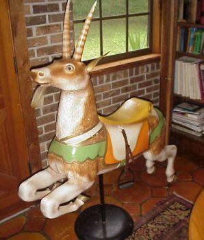 Carousel Goat on Pedestal