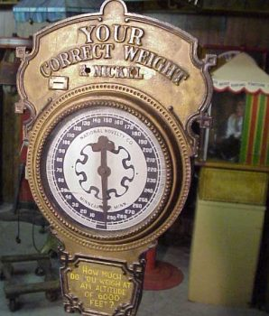 Penny Weight Scale  Antique Coin Op Cast Iron