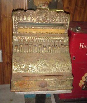 Globe Cash Register 1892-94 Ornate Antique Cash Register