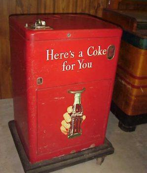 Original 1940s Coca Cola Cooler Ice Box Machine