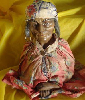 Grandma Fortune Teller Solar Horoscope Forecast Gypsy Manikin Bust