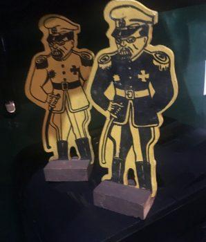 Pair of Vintage WWII Japanese Punk Doll Target Figures