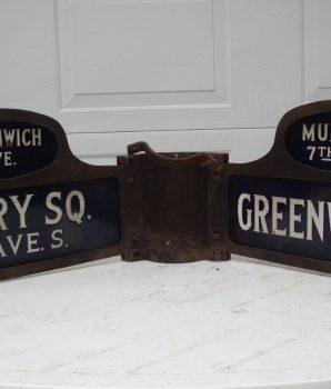 Greenwich Ave & Mulry Sq New York City Street Sign
