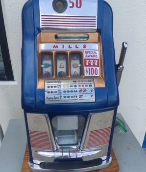 Mills 777 Special Award Card 50¢ Slot Machine – 1948 SOLD